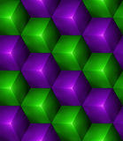 3d Abstract seamless background with cubes. 3d Abstract seamless background with green and purple cubes Vector illustration in eps10 Royalty Free Stock Photo