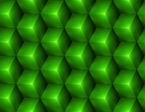 3d Abstract seamless background with green cubes. Vector illustration in eps10 Royalty Free Stock Image