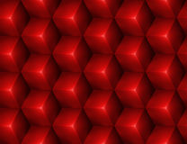 3d Abstract seamless background with red cubes. Vector illustration in eps10 Stock Photo