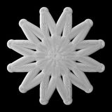 3d abstract shape. 3d abstract of white shapes Royalty Free Stock Photos