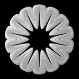 3d abstract shape. 3d abstract of white shapes Stock Photos