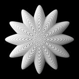 3d abstract shape. 3d abstract of white shapes Royalty Free Stock Photo