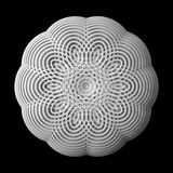 3d abstract shape. 3d abstract of white shapes Royalty Free Stock Photography