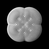 3d abstract shape. 3d abstract of white shapes Stock Image