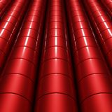 3d abstract shapes. 3d abstract glossy red cylinder Royalty Free Stock Photos