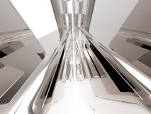 3d Abstract silver design Royalty Free Stock Photography