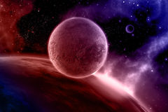 3D abstract space scene Royalty Free Stock Photo