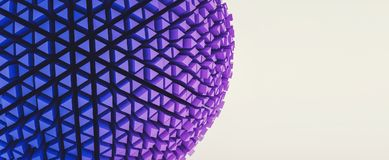 3d abstract sphere in a futuristic style, banner size, including. Colorful 3D sphere in a futuristic style, banner size background. ideal for websites and Stock Photography