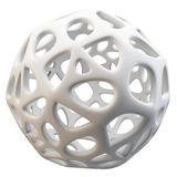 3d abstract sphere. Isolated on white  background Stock Photos
