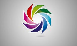 3D Abstract Sphere Logo Rounded Globle Circular Logo Template Modern Company商标标志传染媒介 向量例证