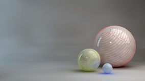 3d abstract spheres background Royalty Free Stock Photo