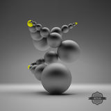 3d abstract spheres composition. Stock Photo