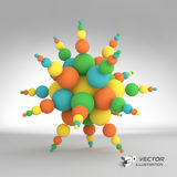 3d abstract spheres composition. Vector. Illustration. Can be used for presentations and design Stock Photography