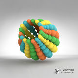 3d abstract spheres composition. Vector. Illustration. Can be used for presentations and design Royalty Free Stock Photo