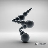 3d abstract spheres composition. Vector Royalty Free Stock Photo