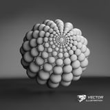3d abstract spheres composition. Vector illustration. Can be used for presentations and design Royalty Free Stock Photography