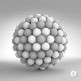 3d abstract spheres composition. Vector Royalty Free Stock Images