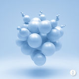 3d abstract spheres composition. Vector. Illustration. Can Be Used For Presentations And Design Royalty Free Stock Image