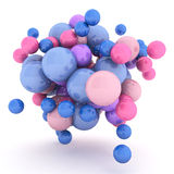 3d Abstract Spheres. 3d rendering colorfull Abstract Spheres Stock Photo