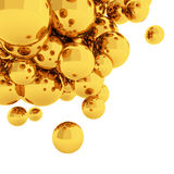 3d Abstract Spheres. 3d rendering gold Abstract Spheres stock illustration