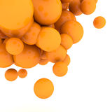 3d Abstract Spheres. 3d rendering orange Abstract Spheres Stock Photos