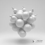 3d abstract spheres. Vector illustration. Can be used for presentations, web design Stock Photo
