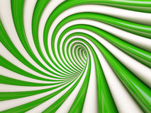 3d Abstract Spiral. 3d Green Abstract Spiral Background Royalty Free Stock Photography