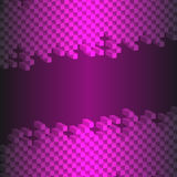 3d abstract square isolated on black- purple background. Vector illustration Stock Image