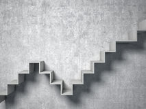 3d abstract stair. 3d image of concrete abstract stair Royalty Free Stock Photography