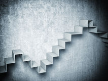 3d abstract stair. 3d image of concrete abstract stair Royalty Free Stock Images