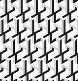 3D Abstract Stars Geometric Vector Seamless Pattern. 3D Black and White Abstract Stars Geometric Vector Seamless Pattern. Can be used as Background Stock Photo