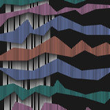 3d abstract striped background. Vector EPS10 Royalty Free Stock Photo