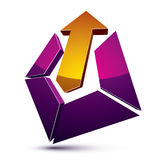 3d abstract symbol with an arrow. Business growth and prosperity Stock Photo