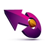 3d abstract symbol with an arrow. Business growth and prosperity Stock Photos