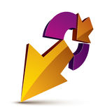 3d abstract symbol with an arrow. Business growth and prosperity Royalty Free Stock Photo