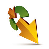 3d abstract symbol with an arrow. Business growth and prosperity Stock Image