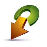3d abstract symbol with an arrow. Business growth and prosperity Royalty Free Stock Photography