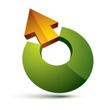 3d abstract symbol with an arrow. Business growth and prosperity Stock Images
