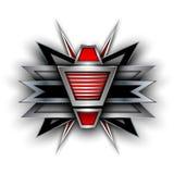 3D abstract symbol. Elegant metallic banner, vector design Stock Photography