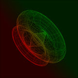 3D Abstract Technological concept. 3D Vector Abstract Technological concept Royalty Free Stock Photos