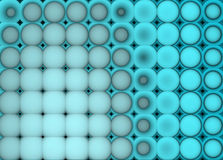 3d abstract tiled mosaic background in blue Royalty Free Stock Photos