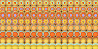 3d abstract tiled mosaic background in yellow blue orange Royalty Free Stock Image