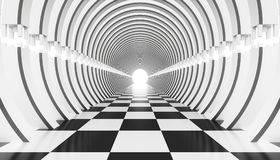 3d abstract tunnel. 3d abstraction of an architectural tunnel Stock Photos
