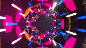 3d abstract tunnel animation stock video