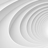 3d Abstract Tunnel Background. White Circular Building Royalty Free Stock Photo