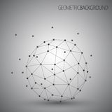 3D abstract vector technology. Geometric round. Unusual object on Grey background Stock Photo