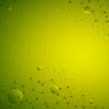 3d Abstract Vector Technology Green Background. Abstract 3d vector technology green background. Connection structure. Internet technology business vector Stock Images