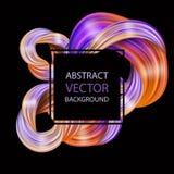 3d abstract vloeibaar ontwerp Kleurrijke moderne achtergrond Stock Illustratie