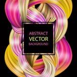 3d abstract vloeibaar ontwerp Kleurrijke moderne achtergrond met twiste Vector Illustratie