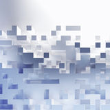 Abstract cubes wallpaper. 3D abstract white cubes background Stock Photography
